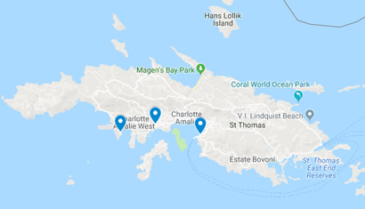Locations of Budget Rent a Car in St. Thomas USVI